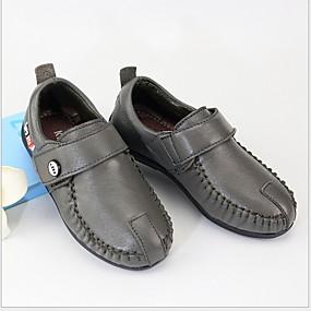 ราคาถูก Kids' Oxfords-เด็กผู้ชาย ความสะดวกสบาย หนัง รองเท้า Oxfords เด็กน้อย (4-7ys) สีดำ / สีเทา / สีเหลือง ฤดูร้อน
