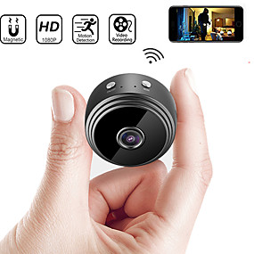 cheap Micro Cameras-A9 IP Camera Full HD 1080P Mini Camera Night Vision Wireless Small Camera 150 Degrees Wide Angle WIFI Micro Camera Outdoor Home Security Surveillance Remote Monitor Phone OS Android App