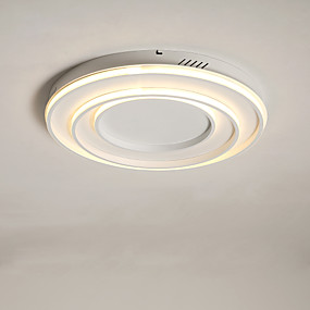 cheap Dimmable Ceiling Lights-58 cm LED® 3-Light Linear Geometrical Flush Mount Lights Ambient Light Painted Finishes Metal LED 110-120V 220-240V Warm White White