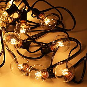 cheap Light Strips & Strings-8m String Lights 25 LEDs 1 set Warm White Decorative 220-240 V