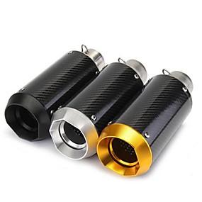povoljno Dekoracija stražnjeg dijela automobila-38-51mm 125-1200cc motocikl klizni okrugli prigušivač ispušnih plinova sport - crna