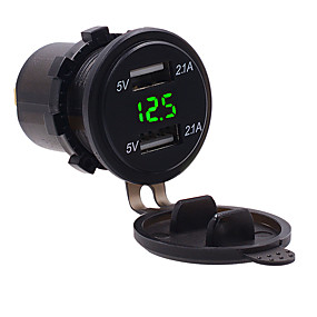 povoljno Punjači za auto-Automobil Auto punjač 2 USB portova za 5 V