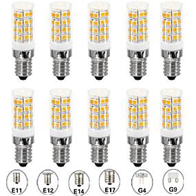 cheap LED Bi-pin Lights-10pcs 5 W LED Corn Lights LED Bi-pin Lights 500 lm E14 G9 G4 T 52 LED Beads SMD 2835 Warm White White 110-120 V