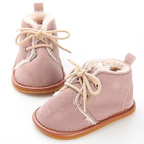 preiswerte LED Schuhe-Jungen / Mädchen Lauflern Baumwolle Stiefel Kleinkinder (0-9 m) / Kleinkind (9m-4ys) Blau / Rosa / Leopard Winter / Gummi