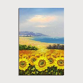 povoljno Slike za cvjetnim/biljnim motivima-Hang oslikana uljanim bojama Ručno oslikana - Sažetak Cvjetni / Botanički Moderna Uključi Unutarnji okvir