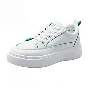 voordelige Damessneakers-Dames Sneakers Creepers Ronde Teen PU Zoet / minimalisme Hardlopen / Fitness & Crosstraining Lente & Herfst / Lente zomer Groen / Oranje / Blauw