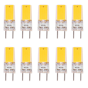 cheap LED Bi-pin Lights-10pcs 5 W LED Bi-pin Lights 500 lm G9 G8 T 1 LED Beads COB Dimmable Warm White White 110-120 V