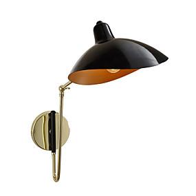preiswerte Schwenkarm-Lampen-Wandleuchte moderne einfache Wandleuchten Metall runden Schatten Innenwand Laterne mit verstellbarem Kopf für Schlafzimmer Wohnzimmer