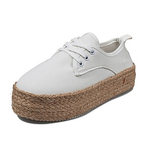 voordelige Damesschoenen met platte hak-Dames Platte schoenen Creepers Ronde Teen Imitatieleer Lente zomer Zwart / Wit / Goud