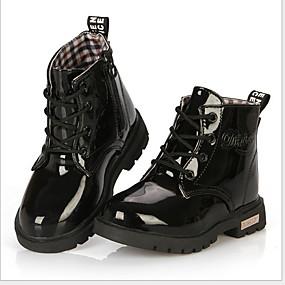 preiswerte Schuhe für Kinder-Mädchen Schneestiefel Leder Stiefel Kleine Kinder (4-7 Jahre) Rot / Blau / Rosa Winter / Booties / Stiefeletten