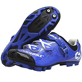 preiswerte Sport & Outdoor-SIDEBIKE Erwachsene Fahrradschuhe Mountainbikeschuhe Polsterung Radsport / Fahhrad Blau / Weiß Fahrradschuhe / Atmungsaktive Mesh