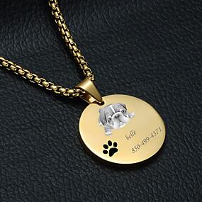 preiswerte Graviertes Haustierzubehör-Personalisiert Angepasst Buldogge Haustier-Umbauten Klassisch Geschenk Alltag 1pcs Gold Silber
