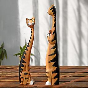 povoljno Praktični poklončići-Dar / Dnevni Nosite Drvo Praktični pokloni za goste / Figurice & Statue / Ukrasi Sa životinjama - 2 pcs