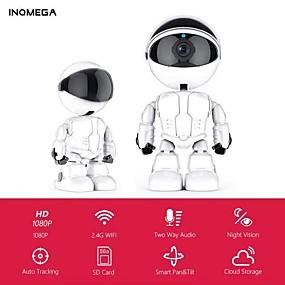 cheap Indoor IP Network Cameras-INQMEGA 1080P Cloud IP Camera Robot Intelligent Camera Wi-fi Robot Camera Home Security Wireless CCTV Camera