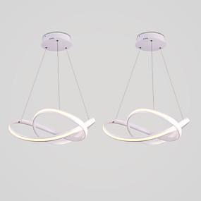 povoljno Viseća rasvjeta-2-kratni moderni, jednostavni vanjski lusinescentni luster, prikladan je za restoran