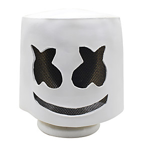 preiswerte Zubehöre für Halloween Party-Halloween weiche Latex DJ Marshmello Maske Cosplay Kostümzubehör