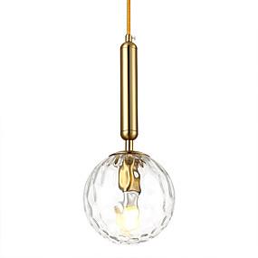 povoljno Viseća rasvjeta-HEDUO Privjesak Svjetla Ambient Light Antique Brass Glass Glass 110-120V / 220-240V