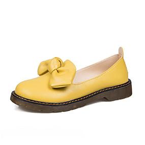 levne Dámské Oxfordky-Dámské Oxfordské Creepers Oblá špička PU Léto Černá / Žlutá / Béžová