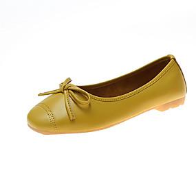 voordelige Damesinstappers & loafers-Dames Loafers & Slip-Ons Blok hiel Ronde Teen PU Zomer Zwart / Licht Groen / Geel