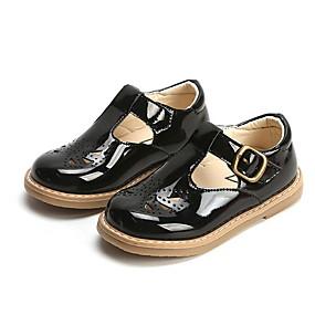 preiswerte Kids' Oxfords-Mädchen Schuhe für das Blumenmädchen PU Outdoor Kleine Kinder (4-7 Jahre) Schwarz / Kaffee / Burgund Sommer