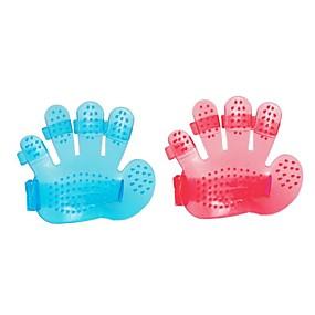 preiswerte Badutensilien-1 stück weiche fünf fingerhandschuhe massage pinsel für haustier baden kaninchen katze hundepflege kämmen reinigungsbürste
