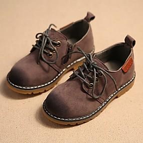 ราคาถูก Kids' Oxfords-เด็กผู้ชาย ความสะดวกสบาย หนังนิ่ม รองเท้า Oxfords เด็กน้อย (4-7ys) สีเทา / กาแฟ / ไวน์ ฤดูร้อน