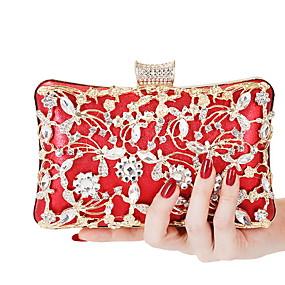 preiswerte Taschen-Damen Kette Polyester Abendtasche Volltonfarbe Schwarz / Silber / Rote
