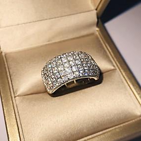 povoljno Nakit za vjenčanje i izlaske-Žene Band Ring Kubični Zirconia 1pc Srebro S925 Sterling Silver Legura Circle Shape Klasik Vintage Elegantno Vjenčanje Angažman Jewelry Vintage Style Cvijet Lijep