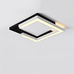 cheap Dimmable Ceiling Lights-1-Light LED® Linear Geometrical Flush Mount Lights Downlight Painted Finishes Metal LED 110-120V 220-240V Warm White White