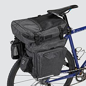 preiswerte Radtaschen-36 L Fahrrad Kofferraum Tasche / Fahrradtasche Wasserdicht Tragbar tragbar Fahrradtasche 600D Polyester Wasserdichtes Material Tasche für das Rad Fahrradtasche Radsport Outdoor Übungen Fahhrad