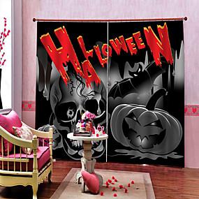 preiswerte Vorhänge und Gardinen-home decoration 3d druck halloween thema erschrocken seele hintergrund vorhänge verdickung blackout schalldicht benutzerdefinierte vorhänge produkte