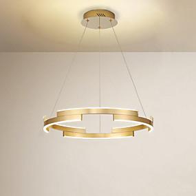 povoljno Lámpatestek-CONTRACTED LED® 6-Light Cirkularno / Geometrijski Lusteri Ambient Light Brushed Slikano završi Metal Kreativan, LED 110-120V / 220-240V Meleg fehér / Hladno bijela