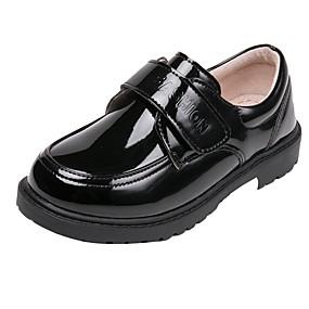 preiswerte Kids' Oxfords-Jungen Lackleder Outdoor Kleine Kinder (4-7 Jahre) Schuhe für das Blumenmädchen Schwarz Sommer