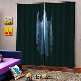 preiswerte Vorhänge und Gardinen-neue Ankunft Luxus Horror Frau Geist 3d Digitaldruck Fenster Vorhang 100% Polyester Blackout Vorhangstoff für Halloween-Dekor