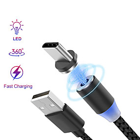 cheap Cell Phone Cables-2.0m(6.5Ft) Braided / Magnetic / Quick Charge Nylon USB Cable Adapter For Android