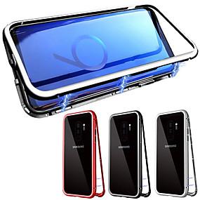 povoljno Maske za mobitele-Θήκη Za Samsung Galaxy Galaxy S10 / Galaxy S10 Plus S magnetom Korice Jednobojni Kaljeno staklo