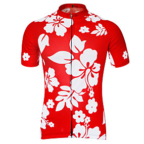 cheap Cycling & Motorcycling-21Grams Men's Short Sleeve Cycling Jersey Summer Purple Black Blue Floral Botanical Bike Jersey Top Mountain Bike MTB Road Bike Cycling Quick Dry Breathable Back Pocket Sports Clothing Apparel