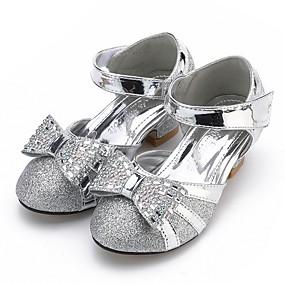 preiswerte Schuhe für das Blumenmädchen-Mädchen Schuhe für das Blumenmädchen Kunststoff High Heels Kleine Kinder (4-7 Jahre) Kristall Weiß / Gold / Silber Sommer