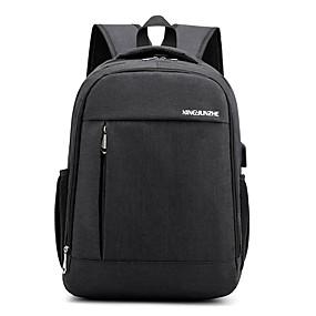 ราคาถูก Bags-Large Capacity เส้นใยสังเคราะห์ ซิป กระเป๋าเป้สะพายหลัง สีทึบ ทุกวัน สีดำ / สีน้ำเงิน / สีเทา