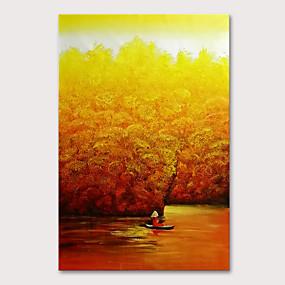 povoljno Slike za cvjetnim/biljnim motivima-Hang oslikana uljanim bojama Ručno oslikana - Cvjetni / Botanički Apstraktni pejsaži Moderna Bez unutrašnje Frame