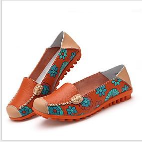 voordelige Damesinstappers & loafers-Dames Loafers & Slip-Ons Platte hak Ronde Teen Microvezel Zomer Zwart / Wit / Fuchsia