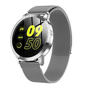 preiswerte Neuheiten-CF18 Smartwatch Edelstahl BT Fitness Tracker Unterstützung benachrichtigen / Pulsmesser Sport Smart Watch für Samsung / iPhone / Android-Handys