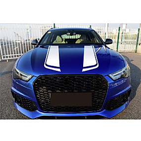 cheap Automotive Exterior Accessories-85cm Black Racing Sports Stripe Sticker Universal Car Hood Vinyl Decals Car-Styling Stickers
