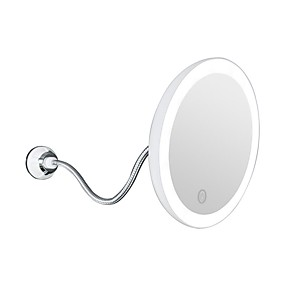 cheap Makeup Tools & Accessories-10x Magnifying Flexible Mirror 360 Degree Suction Cup Rotating Makeup Mirror With Led Light