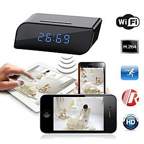 preiswerte Schutz & Sicherheit-hd 720p mini drahtloses wifi Innen-IP-Kamera Bewegungserkennung Sicherheitswecker ir Nachtsichtnetzwerk dv 160 ° Betrachtungswinkel Überwachungskamera für Babyzimmer Schlafzimmer