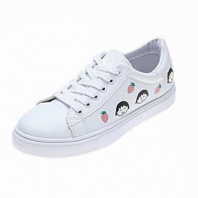 voordelige Damessneakers-Dames Sneakers Platte hak Ronde Teen PVC Zomer zwart / wit / Lichtblauw / Wit