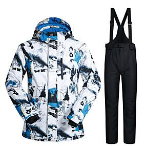 preiswerte Sport & Outdoor-MUTUSNOW Herrn Skijacken & Hosen Wasserdicht Windundurchlässig Warm Skifahren Snowboarding Winter Sport Polyester Sportkleidung Skikleidung