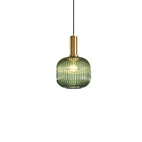 povoljno Viseća rasvjeta-Cilindar Privjesak Svjetla Ambient Light Electroplated Slikano završi Metal Glass 110-120V / 220-240V