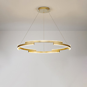 povoljno Lámpatestek-CONTRACTED LED® 6-Light Cirkularno / Geometrijski Lusteri Ambient Light Brushed Slikano završi Metal LED, New Design 110-120V / 220-240V Meleg fehér / Hladno bijela