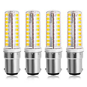 cheap LED Corn Lights-4pcs 7 W LED Corn Lights 300 lm B15 64 LED Beads SMD 2835 Warm White Cold White 220-240 V 110-120 V
